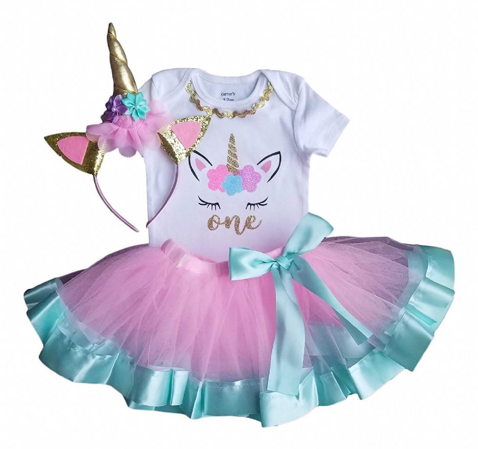 1st Birthday Outfit Baby Girl Tutu Unicorn