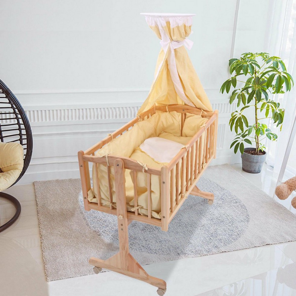 Baby Cradle In Wood