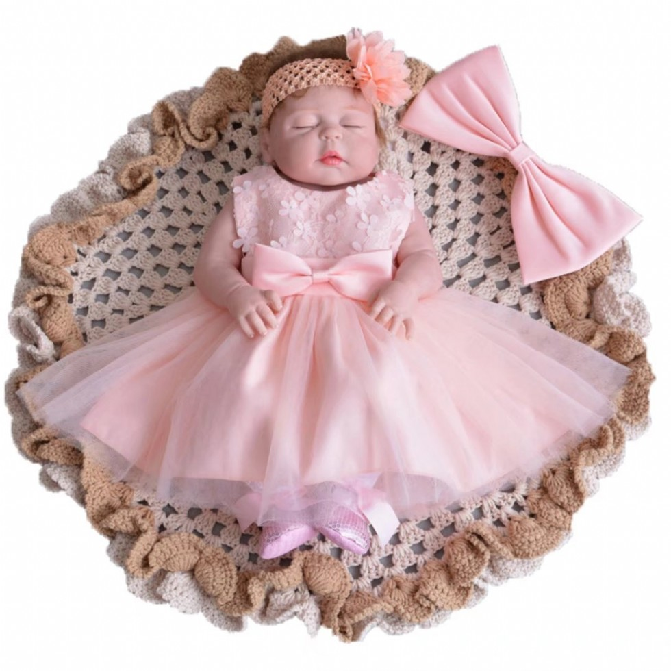 Baby Girl Flower Formal Event Floral Dresses with Headband