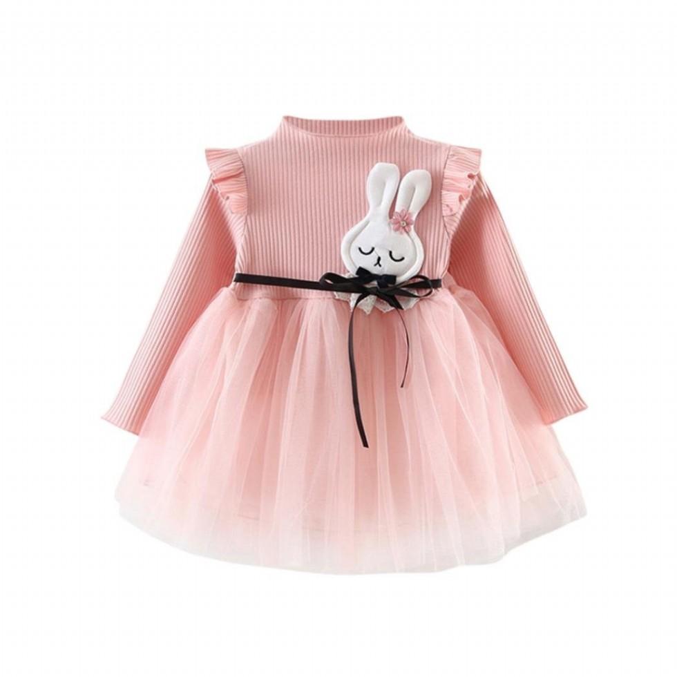 Cute Beautiful Newborn Baby Girls Infant Toddle Children Long Sleeve Bunny Splice