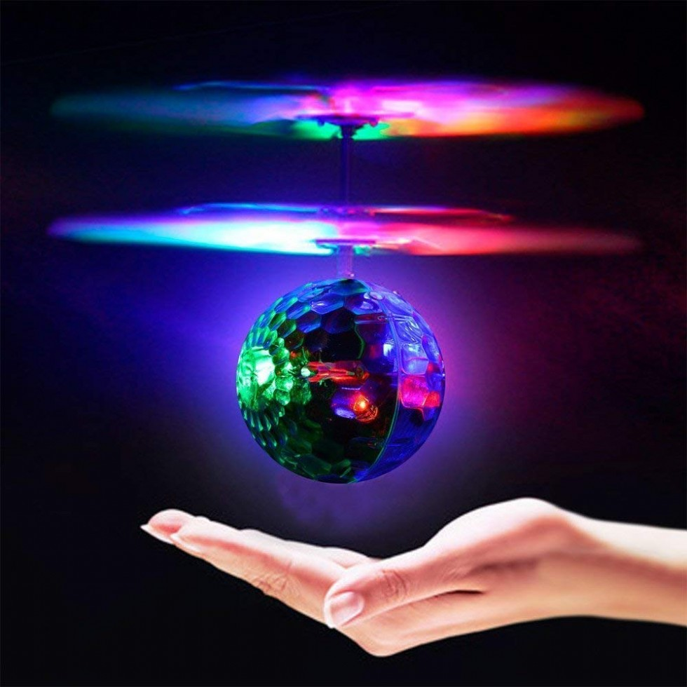 Geekercity Mini Flying RC Drone Helicopter Infrared Induction LED Remote Ball Mini Aircraft Toys for Kids