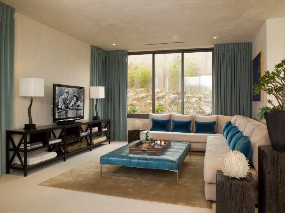 Hollywood Hills by Lori Dennis Living Room Design