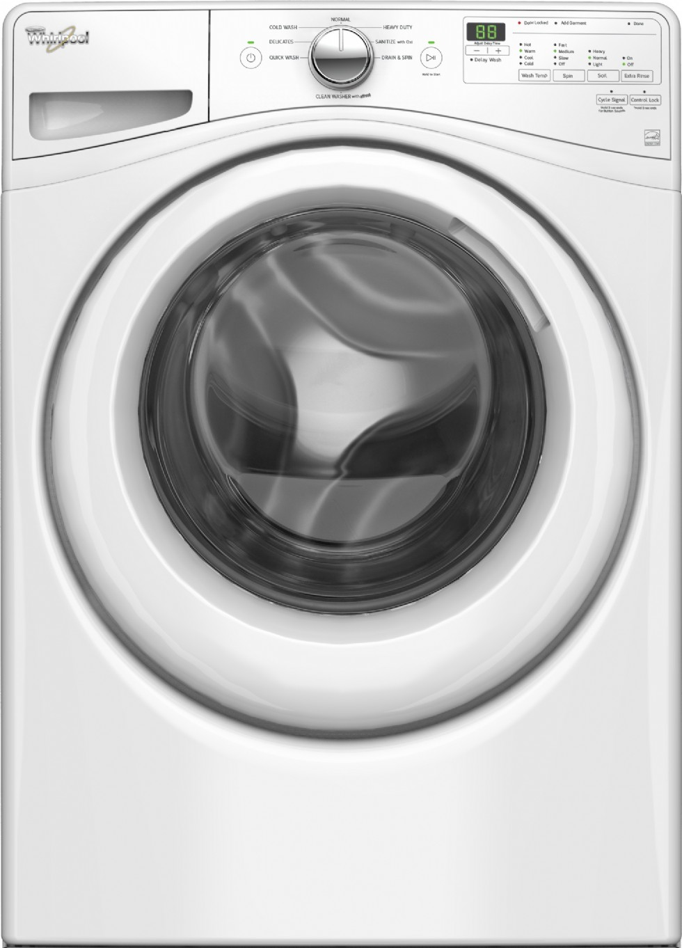 How do you reset a Whirlpool front load washer?