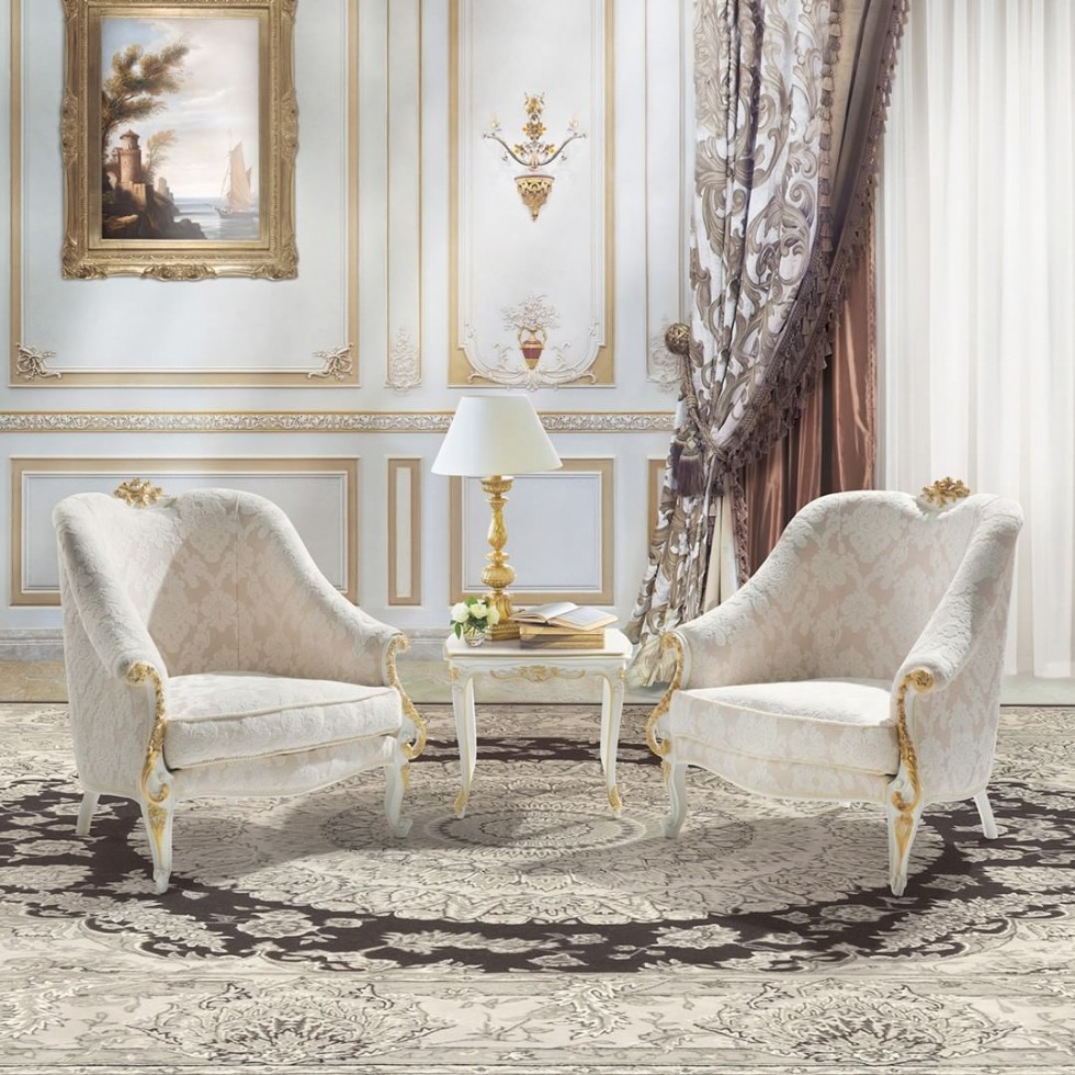 Luxury armchairs for living room