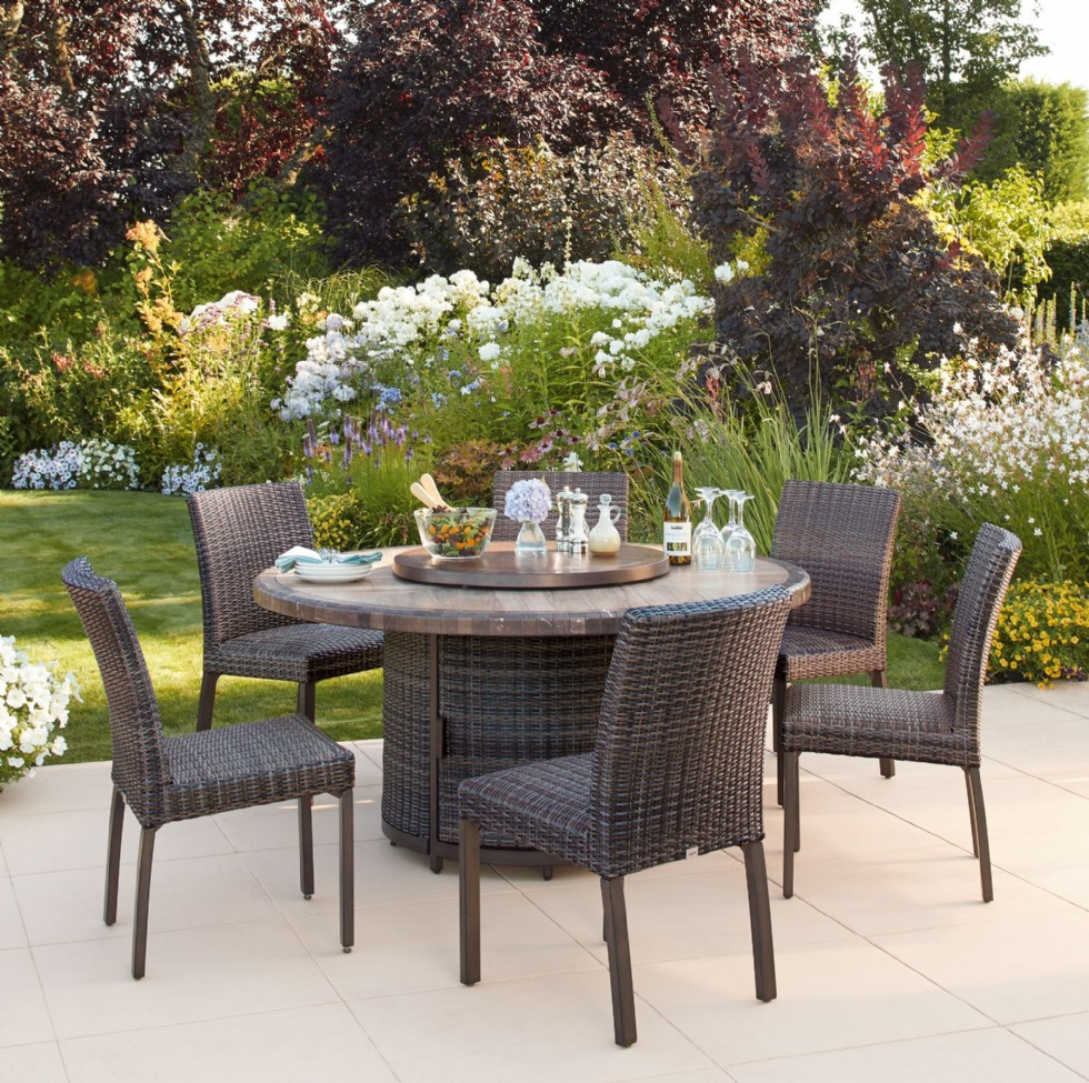 St. Louis 7-piece Woven Dining Set, All-Weather Wicker