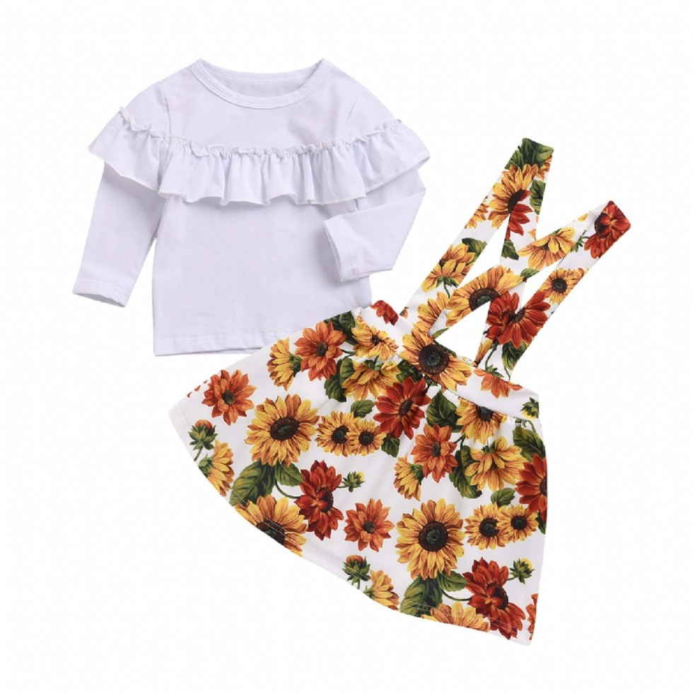 Unmega Baby Girl Sunflower Outfit Toddler Girls
