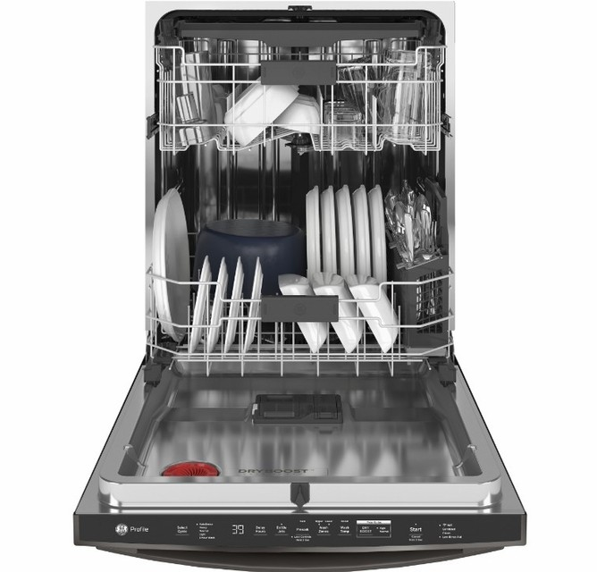 How do I know if my dishwasher drain hose is clogged?