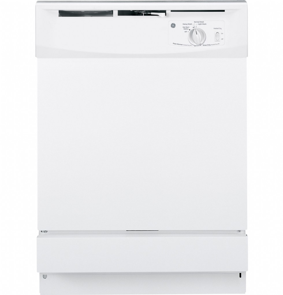 How do you force a drain cycle on a GE dishwasher?