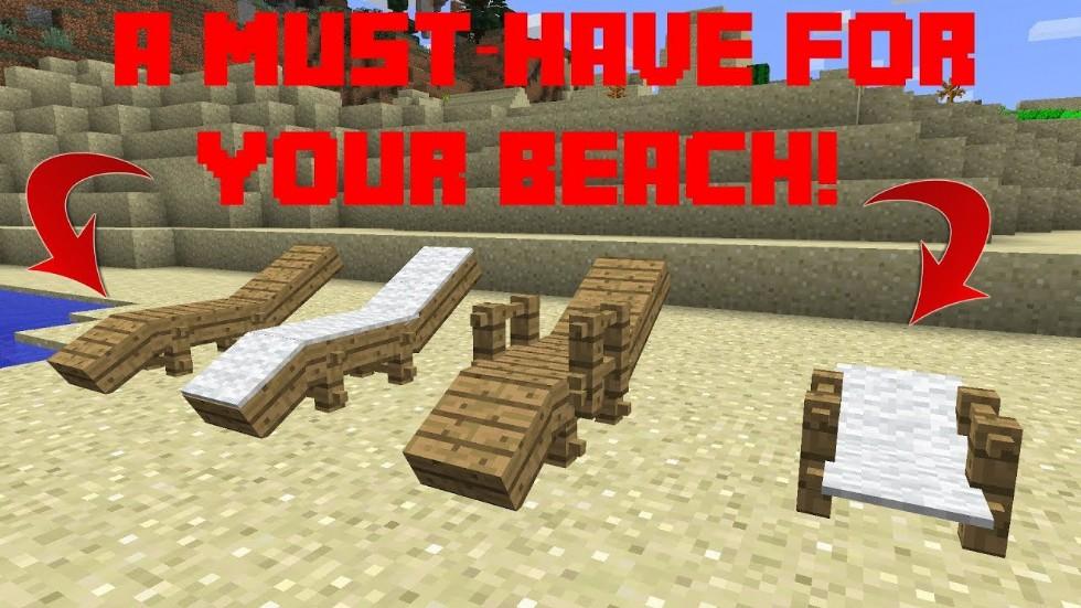 Minecraft Umbrella and Beach Chair