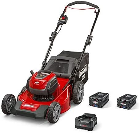 Snapper XD 82V MAX Cordless Electric 21-Inch Lawn Mower Kit with (2) 2.0 Batteries and (1) Rapid Charger