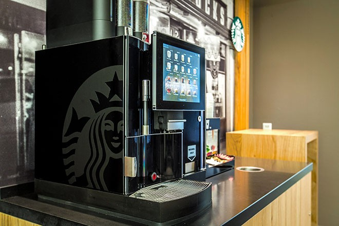 What kind of espresso machine does Starbucks use?