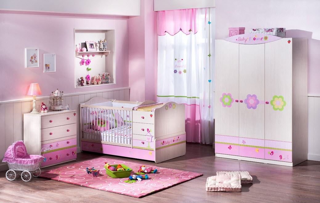 pink and white toddler girl bedroom ideas