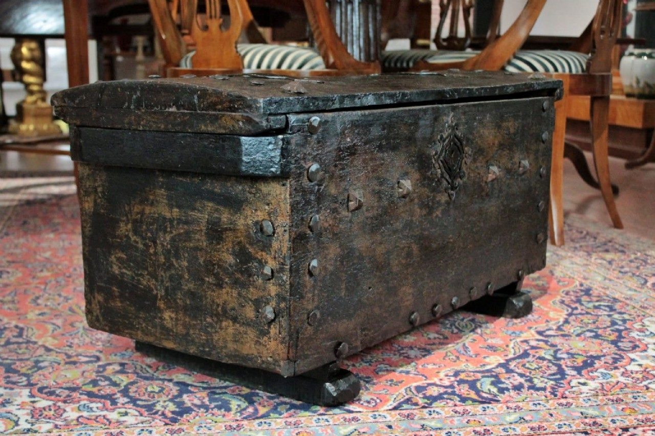 Spanish Medieval Chest 15th Century Furniture