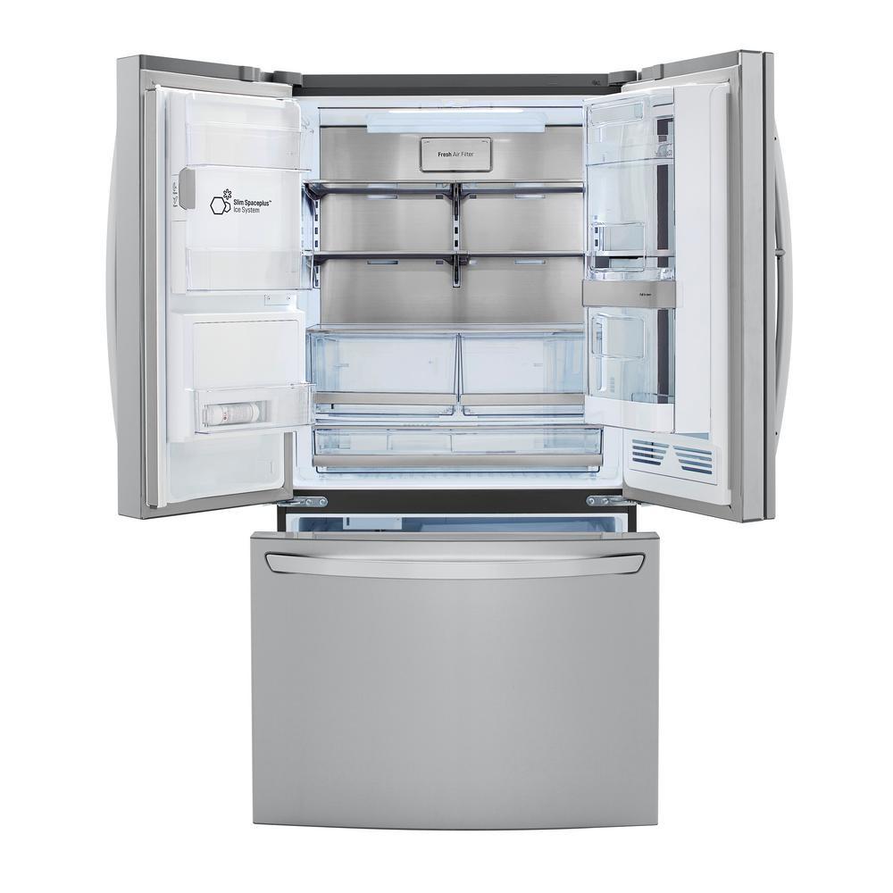 LG Electronics 29.7 cu. ft. Smart French Door Refrigerator, InstaView Door-In-Door