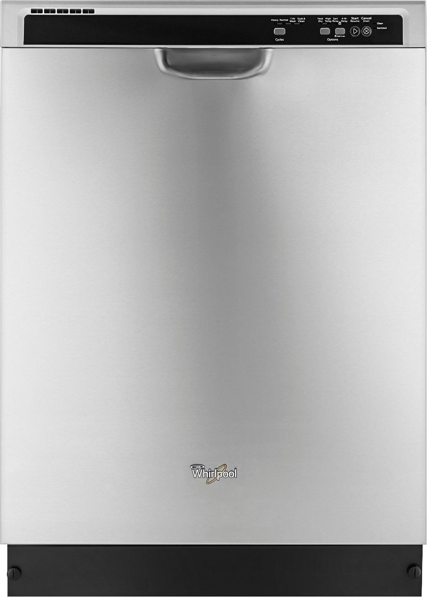 Whirlpool - 24inc Tall Tub Built-In Dishwasher - Monochromatic Stainless Steel