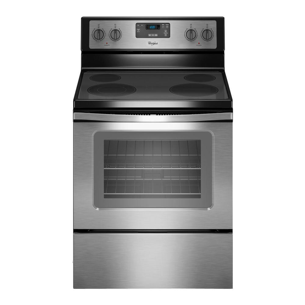 Whirlpool 4.8 cu. ft. Electric Range in Stainless Steel