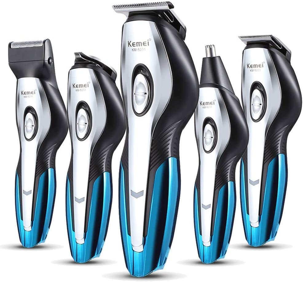 6 in 1 Waterproof Electric Grooming Kit Hair Clippers Shaver Beard Trimmer Body Trimmer Nose Ear