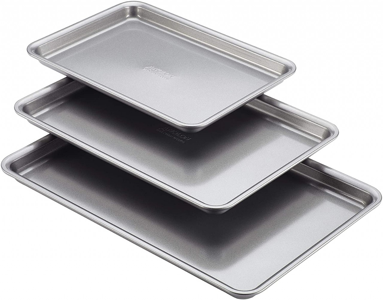 Anolon 46864 Gourmet Nonstick Bakeware Set with Nonstick Cookie Sheets / Baking Sheets - 3 Piece