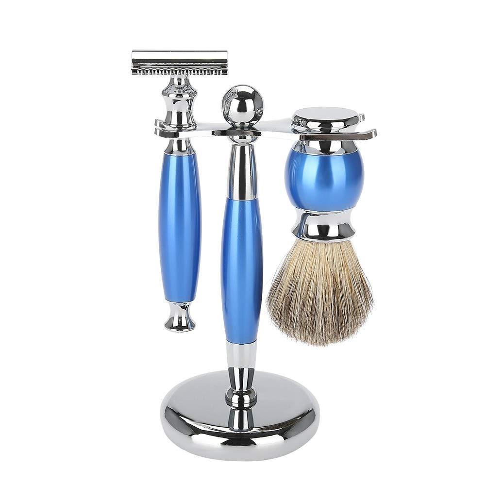 Beard Grooming Kit for Men Beard Shaving Set Safety Razor Brush, Brush Stand Rack Holder, Shaving