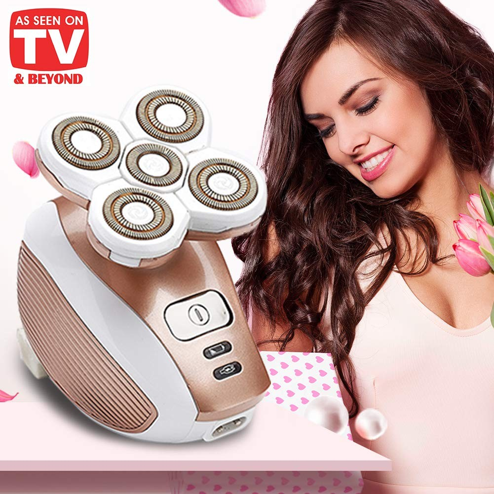 Beauty Angelbella Electric Shaver for Women, Rechargeable Waterproof Painless Hair Remover, Cordless