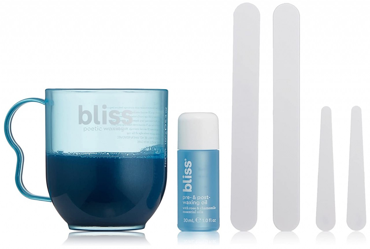Bliss Poetic Waxing Hair Removal Kit | No-Strip Wax | Straight-from-the-Spa | Safe, Low-Temp, Microw
