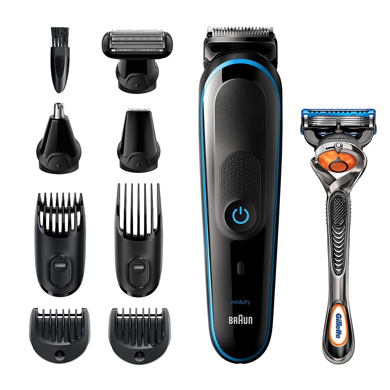 Braun All-in-one trimmer MGK5280, 9-in-1 Beard Trimmer, Hair Clipper, Ear and Nose Trimmer, Body