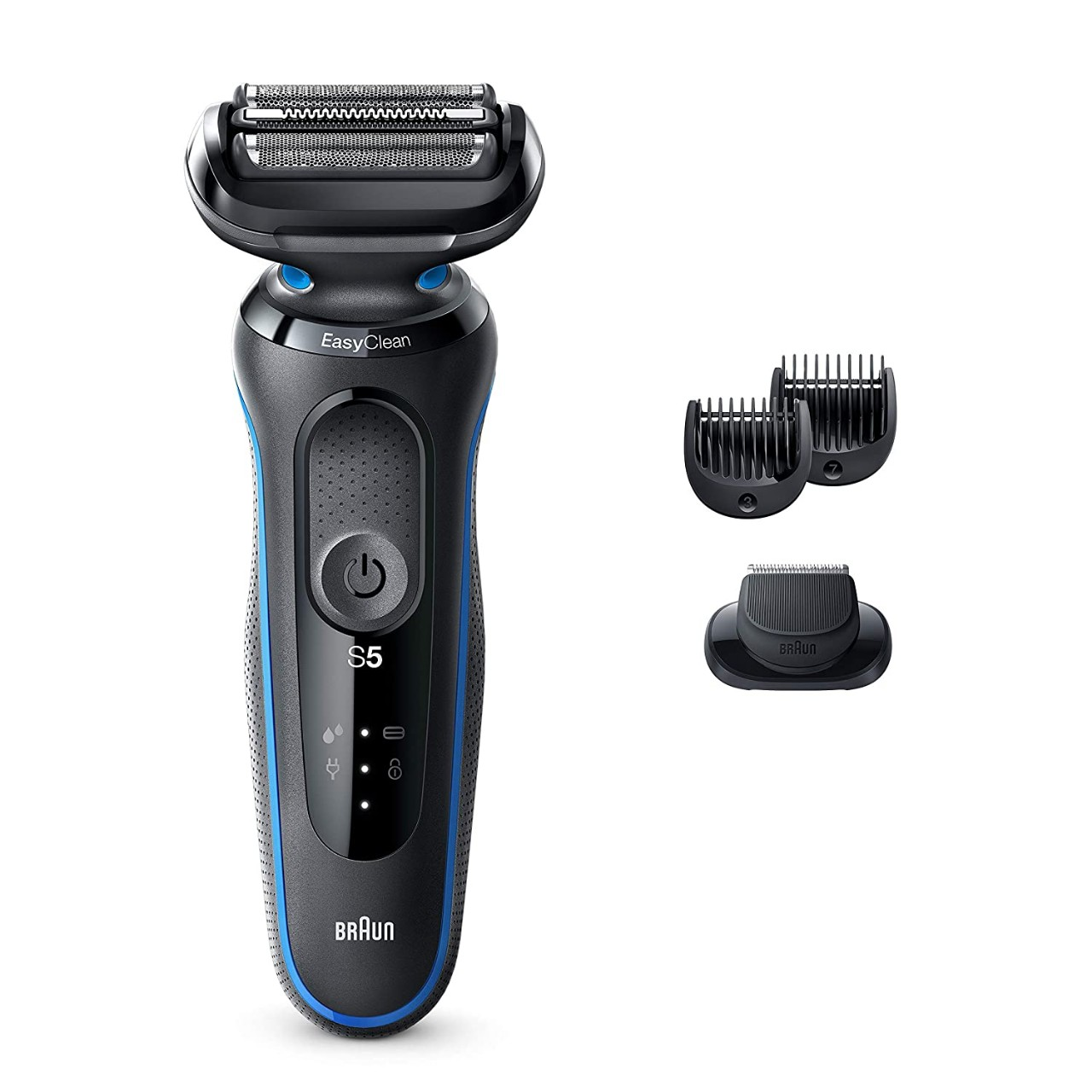 Braun Electric Razor for Men, Series 5 5020s Electric Shaver with Beard Trimmer Rechargeable Wet Dry