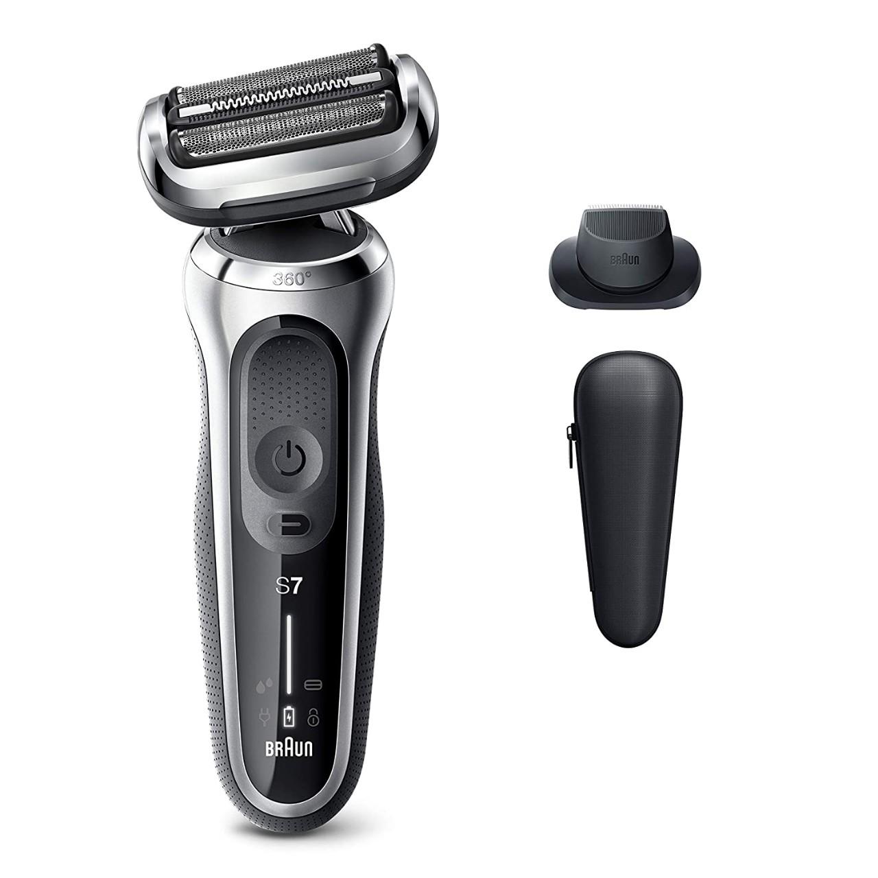 Braun Electric Razor for Men, Series 7 7020s 360 Flex Head Electric Shaver with Precision Trimmer