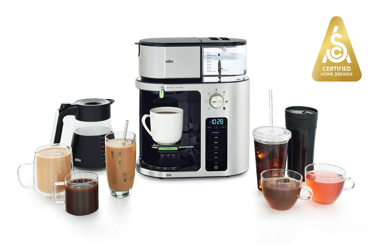 Braun MultiServe Coffee Machine 7 Programmable Brew Sizes / 3 Strengths + Iced Coffee & Hot Water