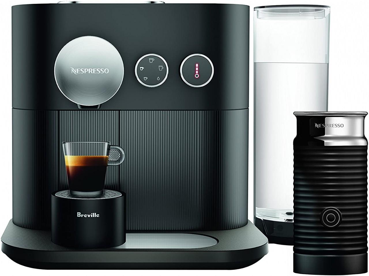 Breville-Nespresso USA Nespresso Expert by Breville with Aeroccino, Black Espresso & Coffee Maker