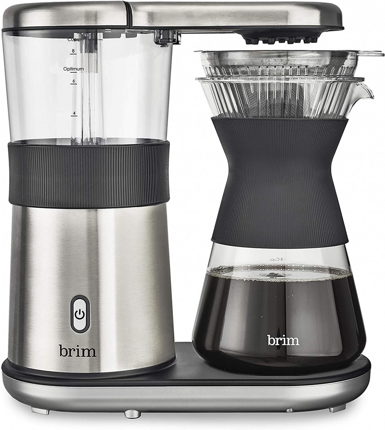 brim 8 Cup Pour Over Coffee Maker, Silver