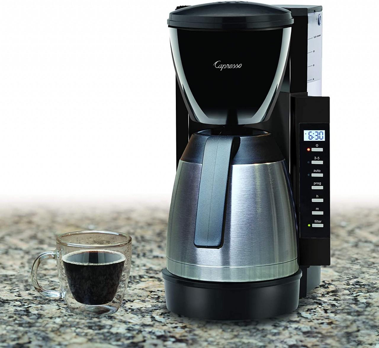 Capresso CM300 Coffee Maker, 10 cup, Black