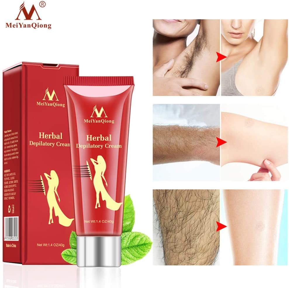 CapsA Ginseng Hair Removal Painless Hair Removal Cream Depilatories for Body Legs Underarm Neutral