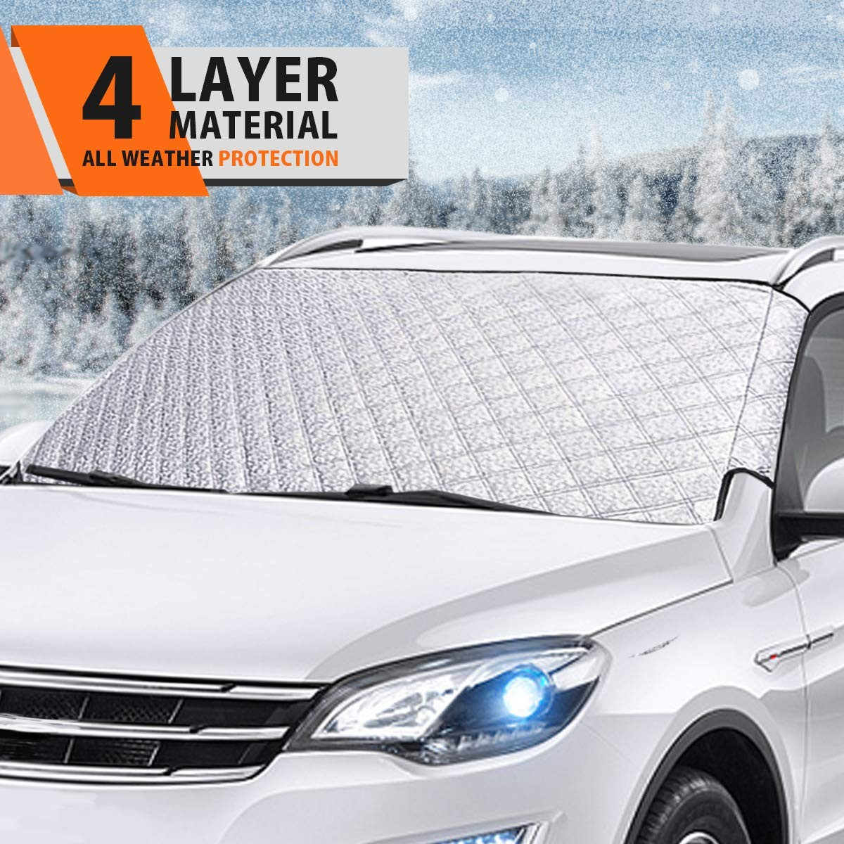 Frost Guard Windshield Cover for Most Vehicles Windshield Snow Cover for Car Frost Snow Windshield Cover Protect The Windshield and Wiper from Ice,Snow