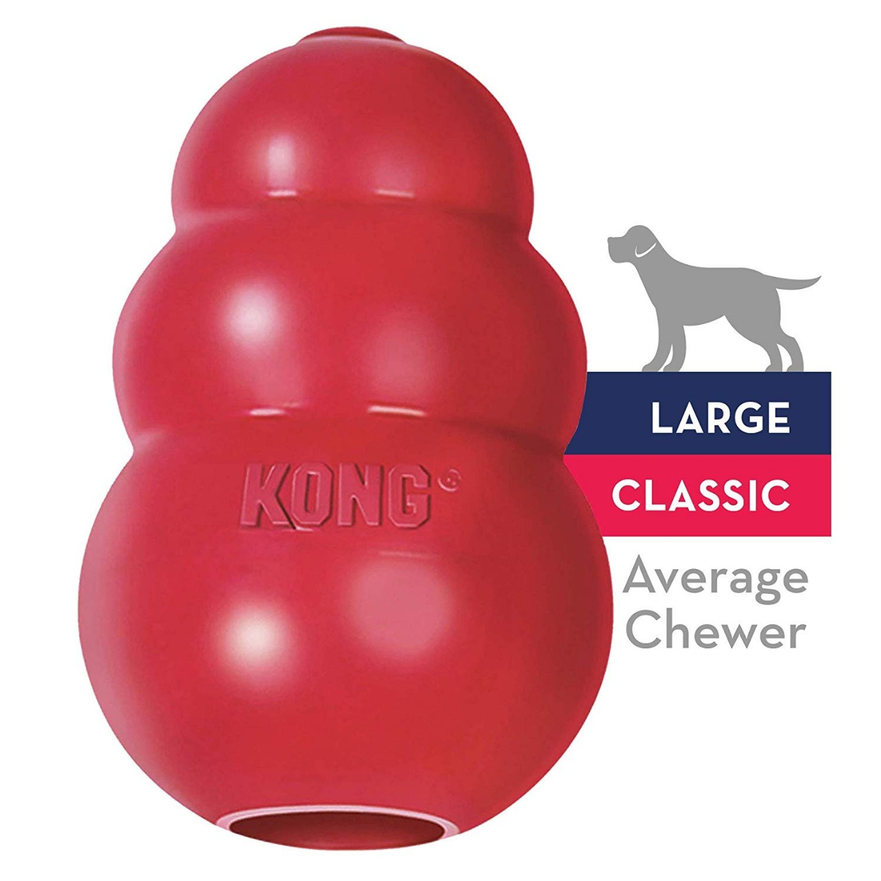 Classic Dog Toy - Durable Natural Rubber - Fun to Chew, Chase and Fetch
