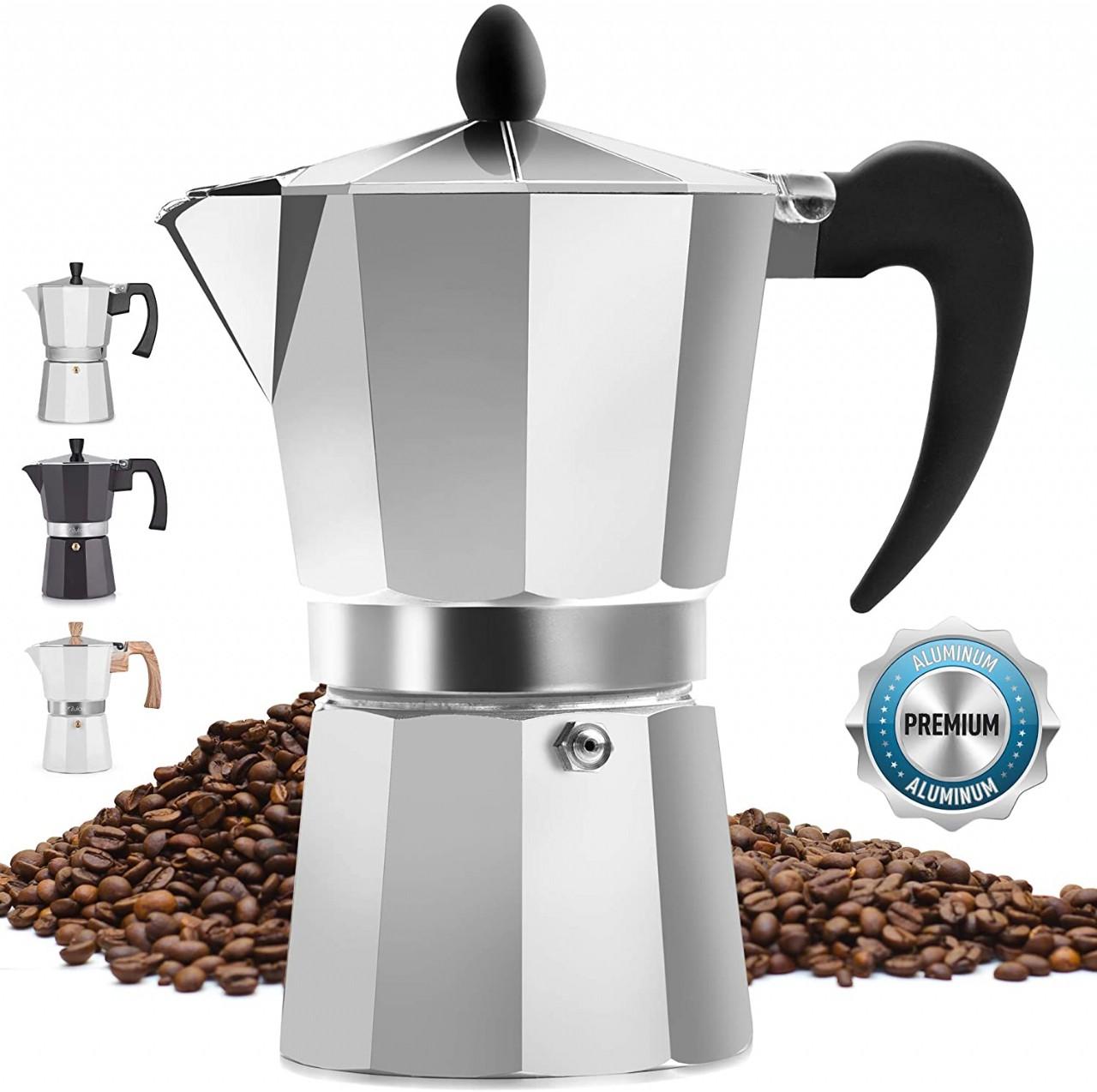 Classic Stovetop Espresso Maker for Great Flavored Strong Espresso, Classic Italian Style 3 Espresso