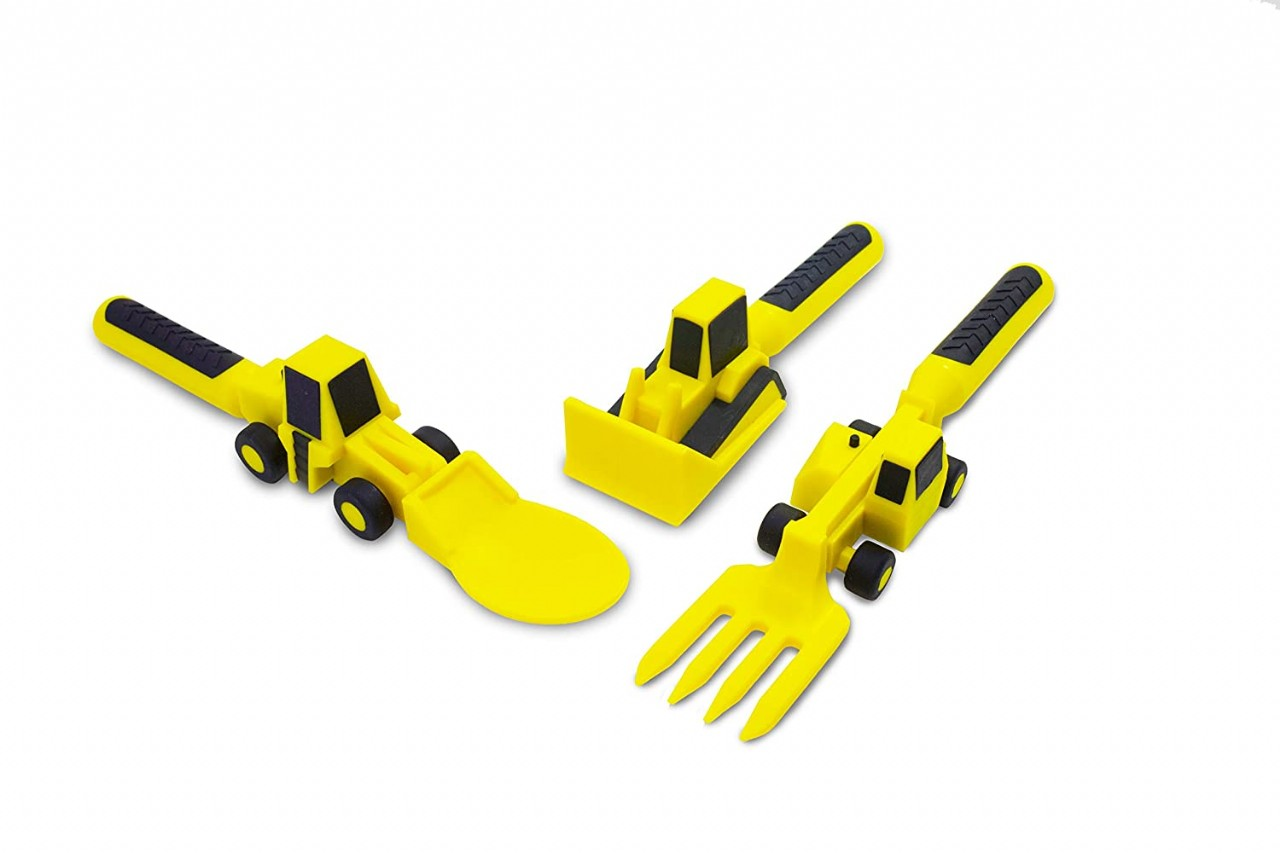 Constructive Eating Set of Construction Utensils for Toddlers, Infants, Babies and Kids - Flatware