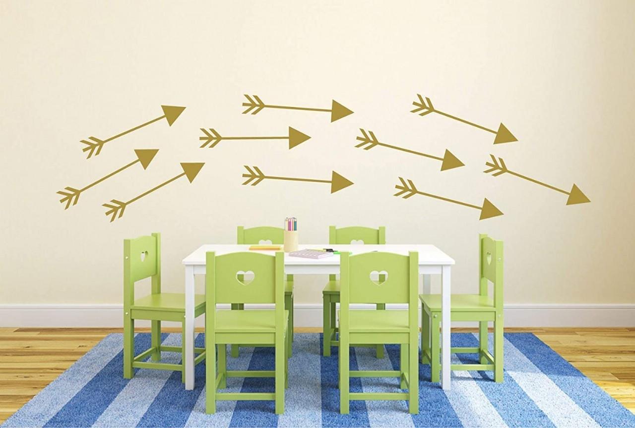 CustomVinylDecor Arrows Room Decor Decals Vinyl Wall Stickers | Playroom Decor for Kids Room, Nurser