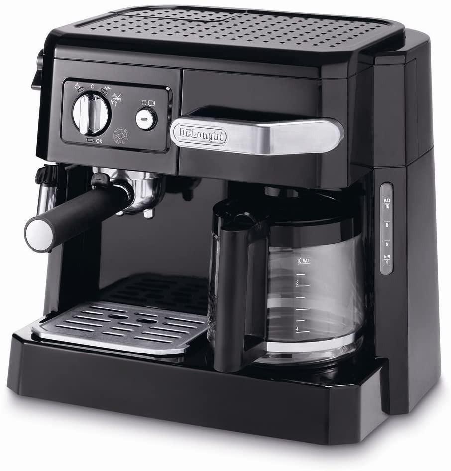 DeLonghi BCO411.B 15-Bar Combi Espresso Coffee Machine, 220-Volts