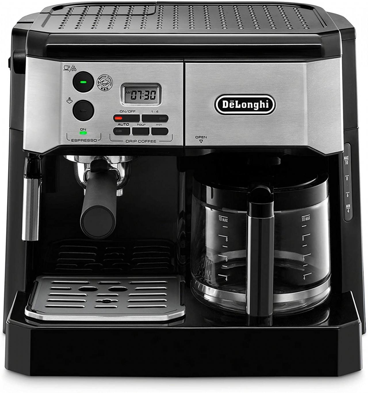 De'Longhi BCO430BM Combination Pump Espresso and 10c Drip Coffee Machine with Advanced Cappuccino