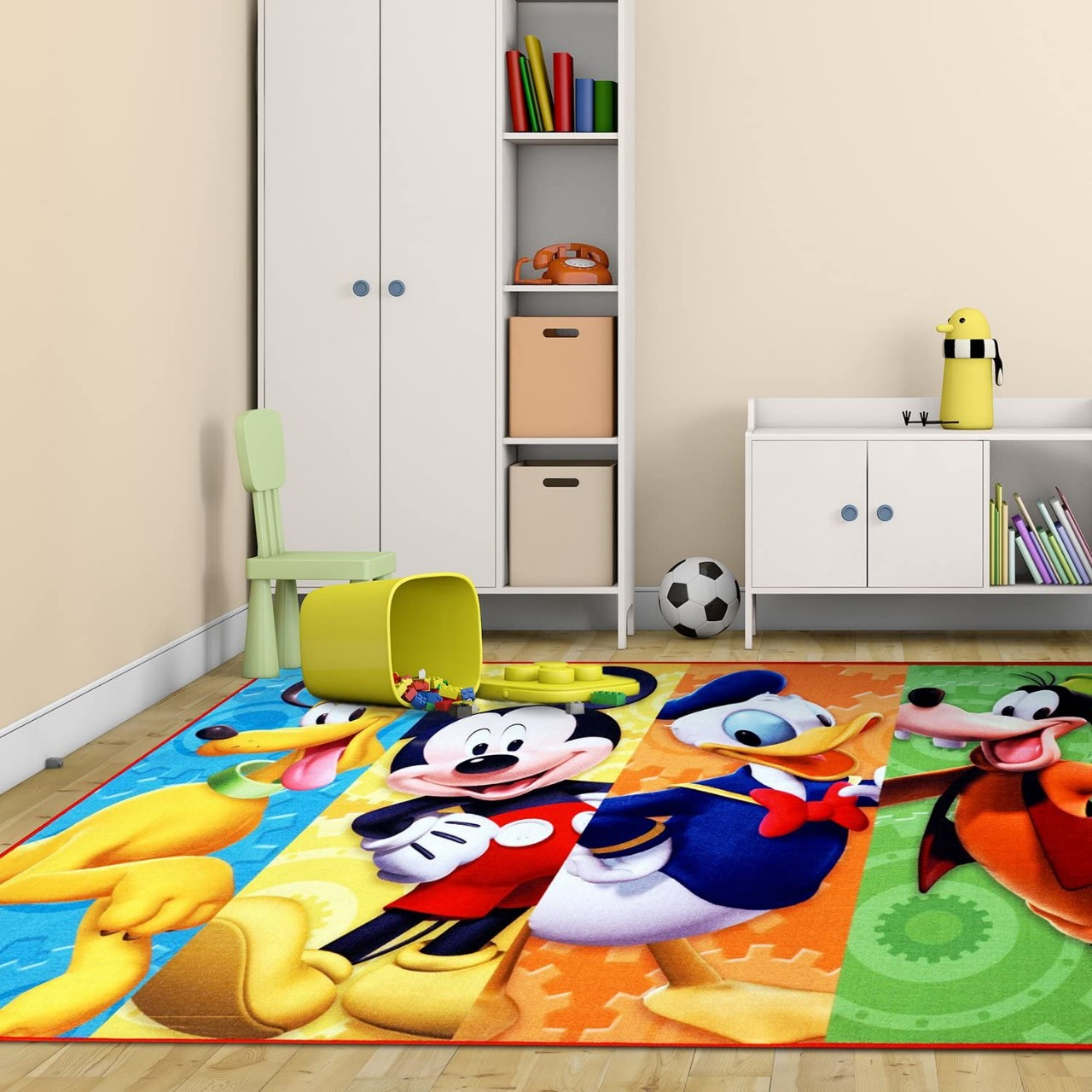 Disney Mickey Mouse Clubhouse Rug HD Digital MMCH Kids Room Decor Bedding Area Rugs 5x7, X Large