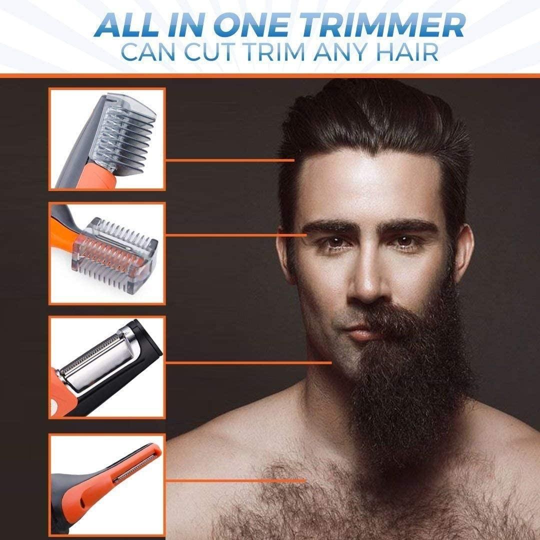 Domom 2 in 1 Hair Trimmer, Professional Painless Mens Hair Trimmer for Nose, Ears, Eyebrows, Neck