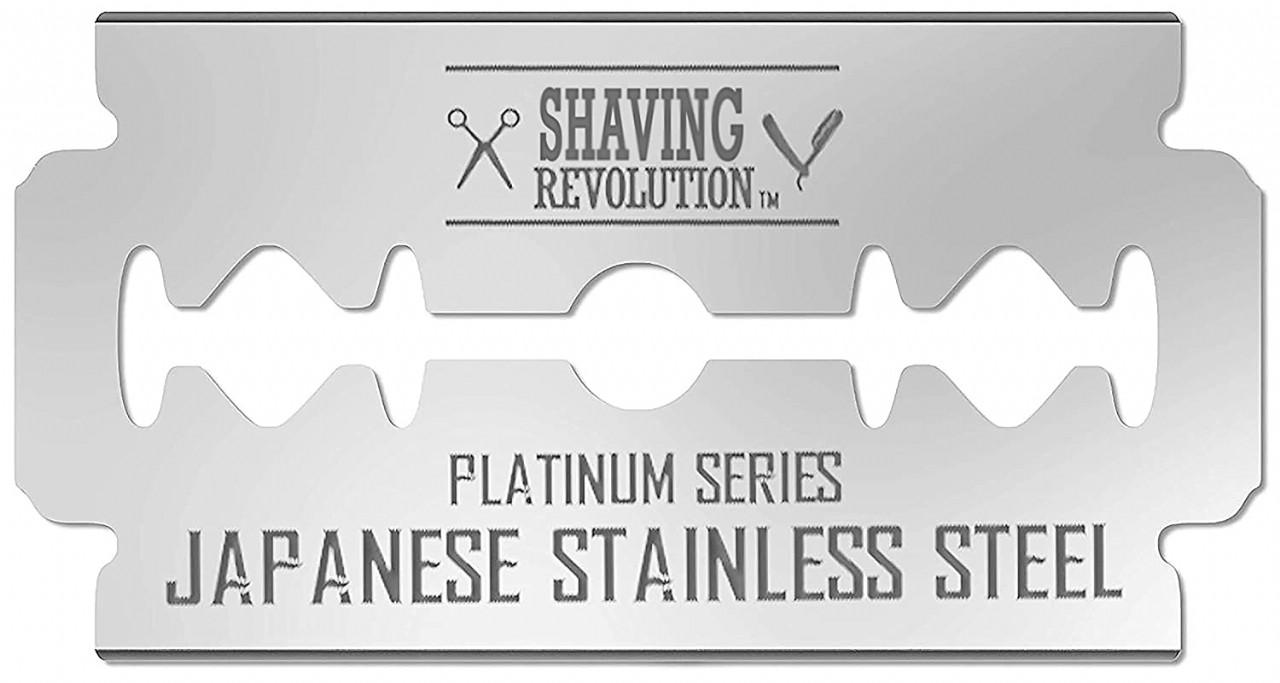 Double Edge Razor Blades - Men´s Safety Razor Blades for Shaving - Platinum Japanese Stainless Steel