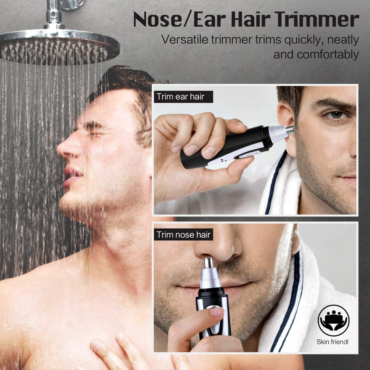 Ear and Nose Hair Trimmer Clipper - 2019 Professional Painless Eyebrow and Facial Hair Trimmer