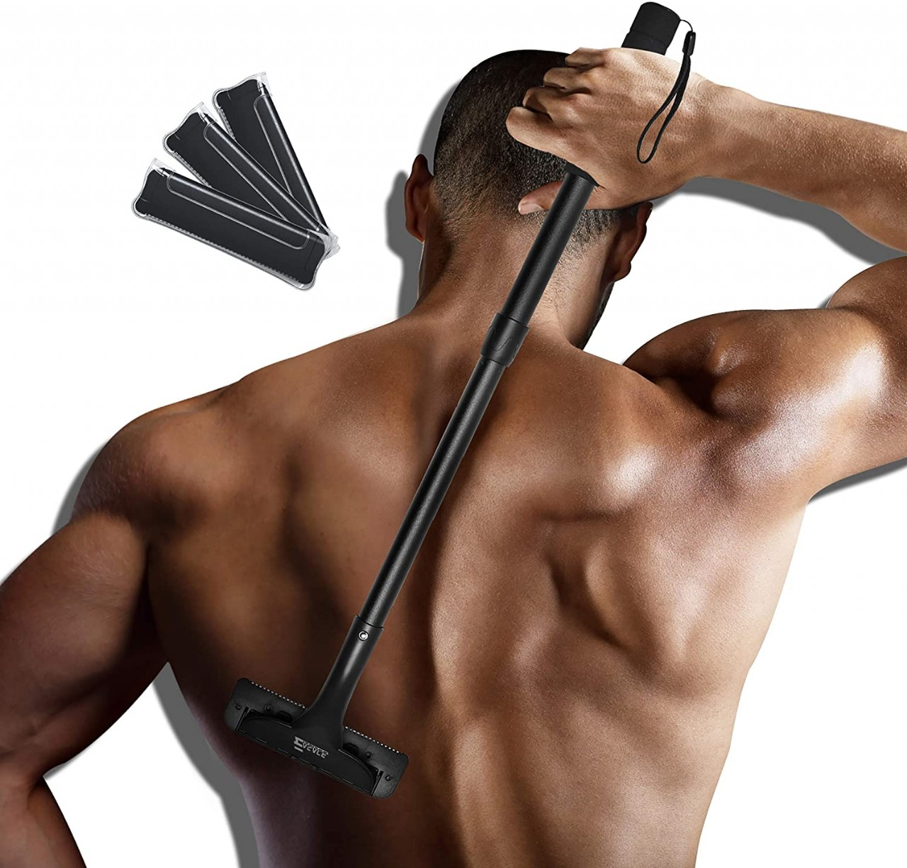 EASACE Back Shaver Back Hair Removal for Men, Back Groomer with Long Handle 21.5 Inch Adjustable