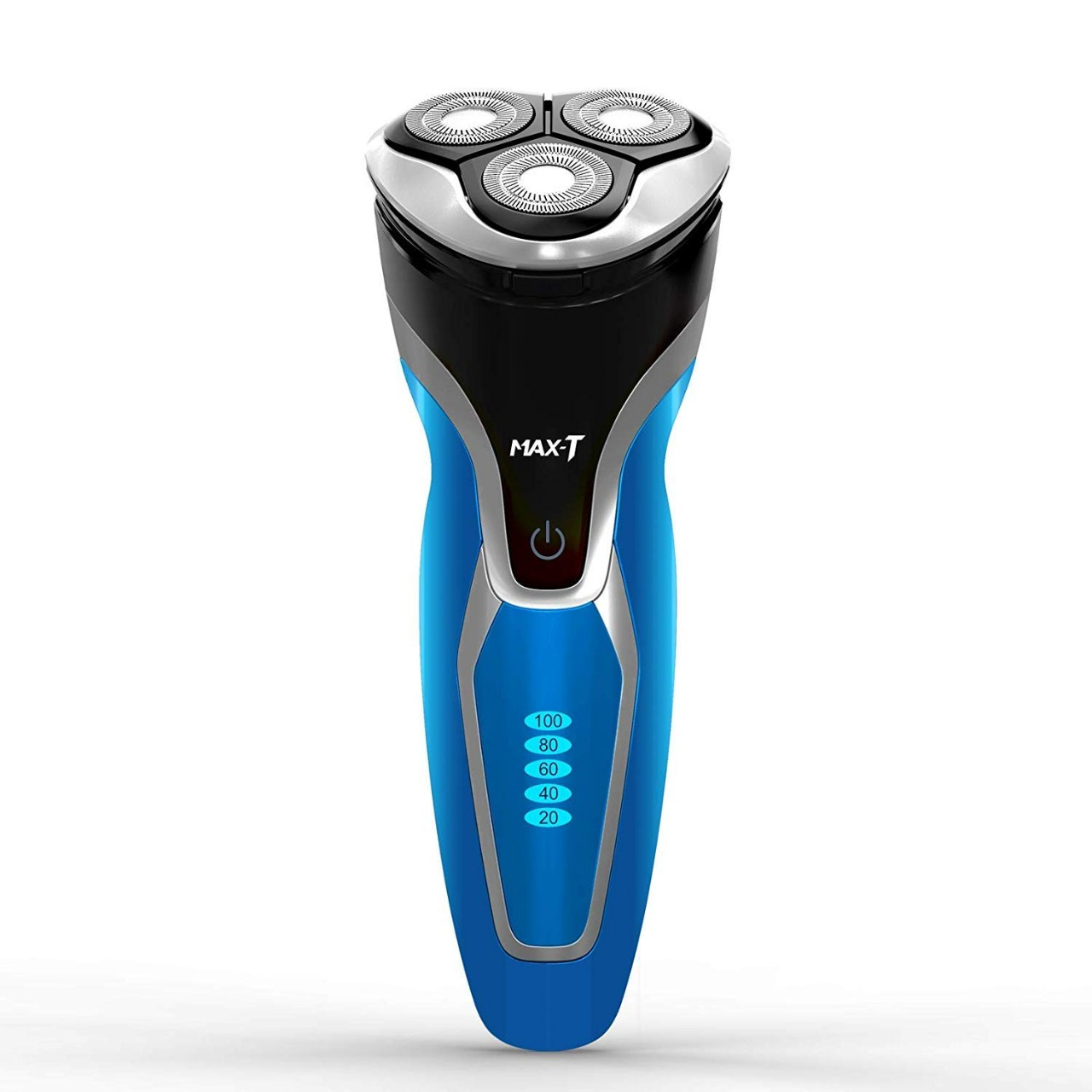 Electric Shaver Razor for Men, MAX-T Quick Charge Wet Dry Rotary Shaver with Pop Up Trimmer, IPX7