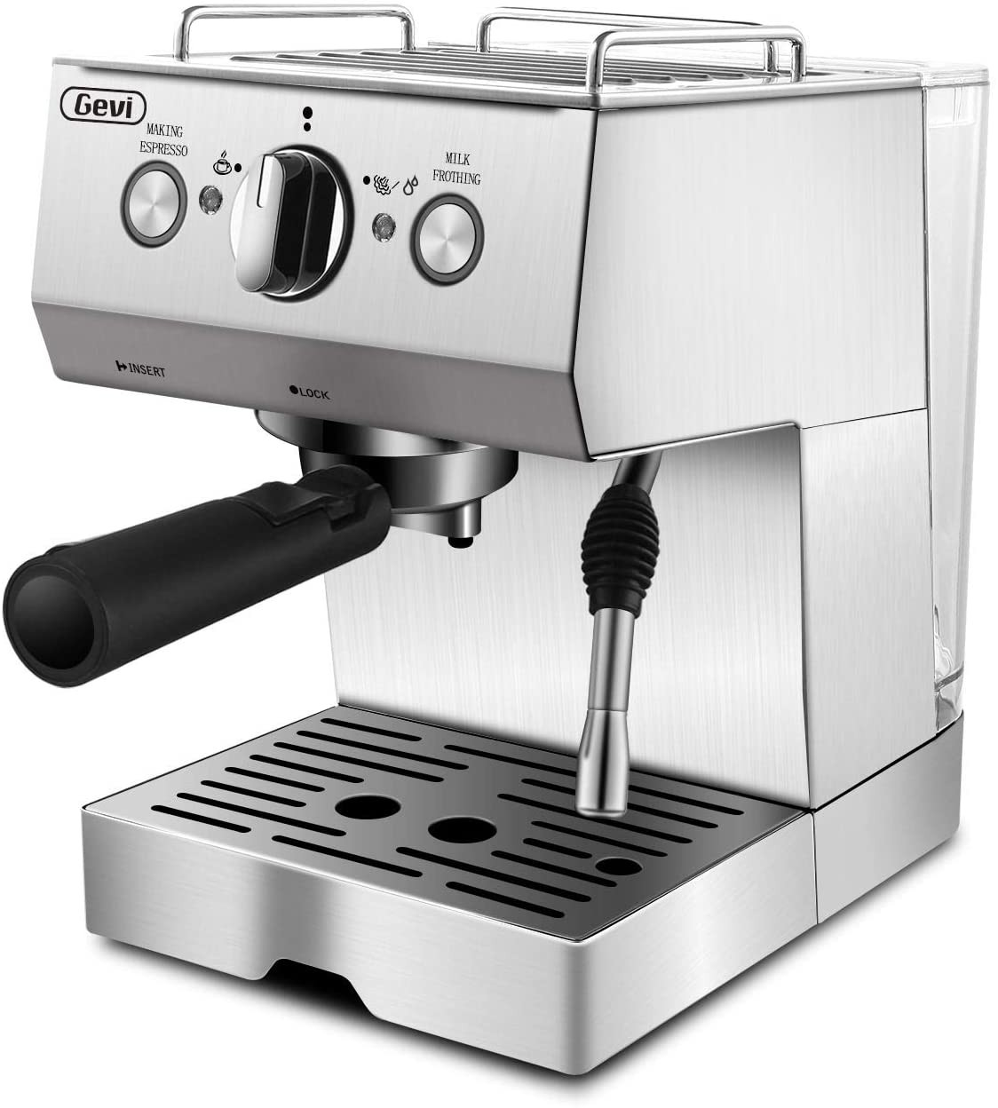 Espresso Machines 15 Bar Coffee Machine with Milk Frother Wand for Espresso, Cappuccino, Latte