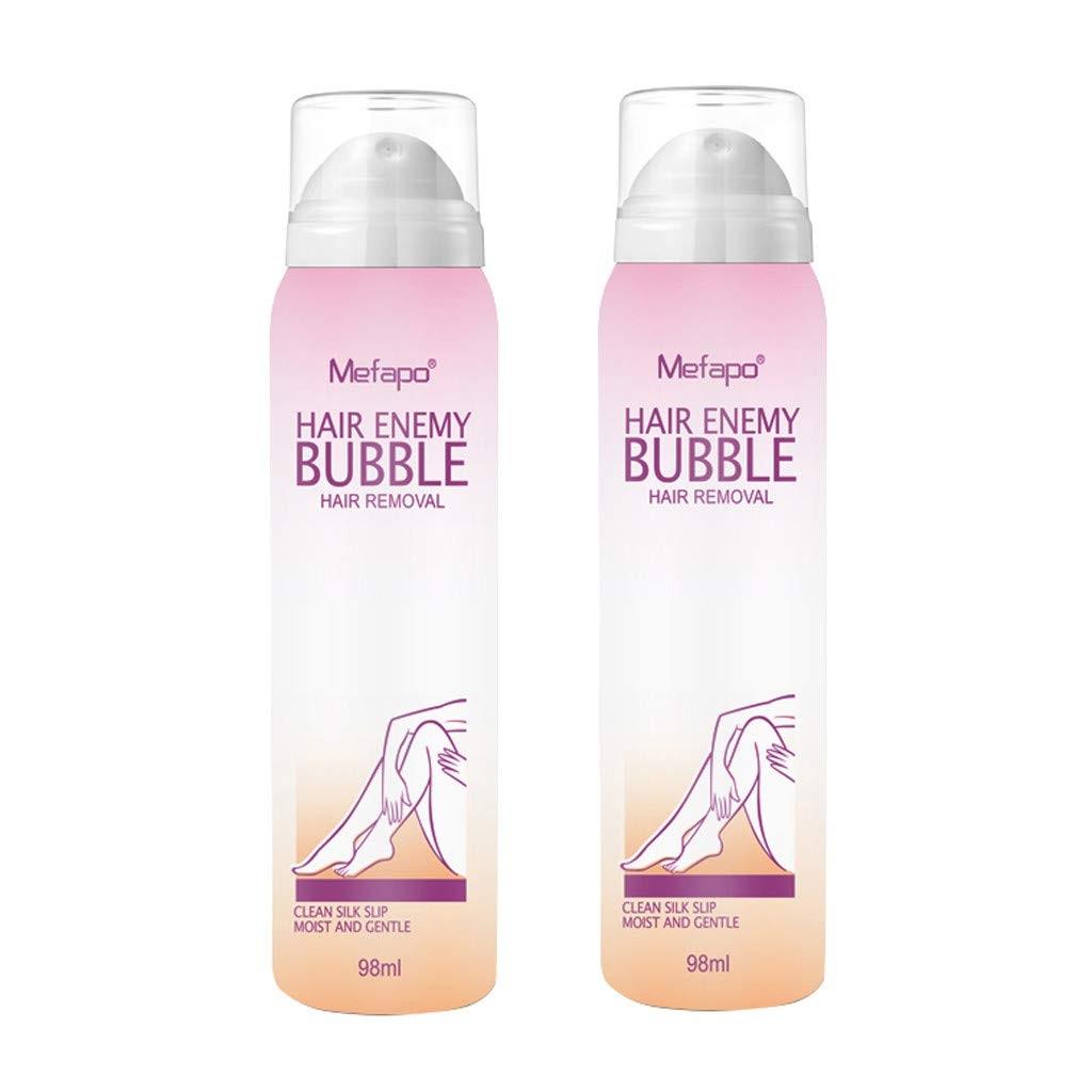 Exteren 2pcs Mousse Creams Depilatories Hair Removal Body Cream Anti allergic No Damage No Pain