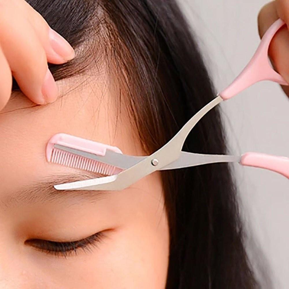 Eyebrow Trimmer Comb/Eyebrow Shear Scissor/Eyebrow Grooming Beauty Tools Set Eyebrow Comb + Eyebrow