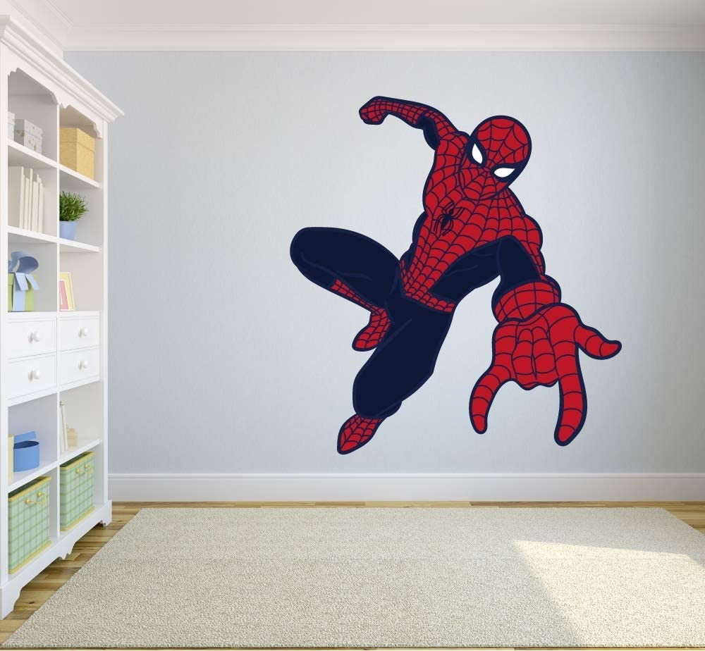 Fun Cartoon Spiderman Spider-Man Boy Boys Decoration Decor Art for Rooms Room Theme Boy Boys Room